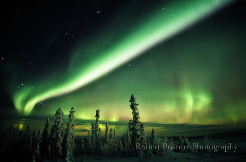 Aurora borealis or Northern Lights.
