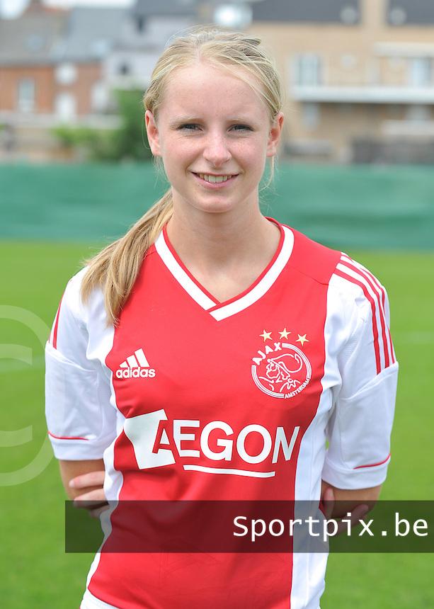 Ajax Amsterdam Dames : Donna van Rossum .foto DAVID CATRY / Vrouwenteam.be