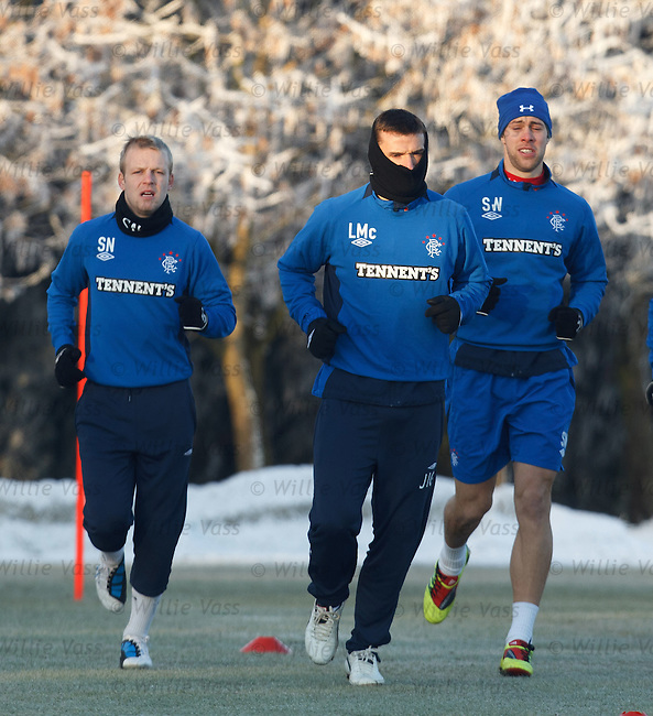 Lee McCulloch wearing a snood as temperatures hit -12C at Murray Park