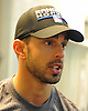 Brandon Pirri #73 of the New York Rangers speaks with the media during the first day of training camp at MSG Training Center in Greenburgh, NY on Friday, Sept. 23, 2016.