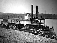Transport steamer Missionary on Tennessee River, ca.  1863.  (War Dept.)<br /> Exact Date Shot Unknown<br /> NARA FILE #:  165-C-647A<br /> WAR &amp; CONFLICT BOOK #:  204