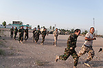 20/07/14  Iraq -- Daquq, Iraq -- Peshmerga fighters train at the base.