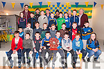 Medal Presentation : The St. Senan's U/12 players who won the  County League who were presented with their medal by county stars Anthony Maher & David Foran at the St. Senan's Clubhouse, Mountcoal on Saturday night last.