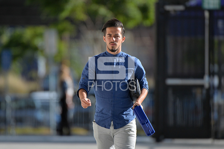 San Jose, CA - Wednesday June 13, 2018: Jahmir Hyka prior to a Major League Soccer (MLS) match between the San Jose Earthquakes and the New England Revolution at Avaya Stadium.