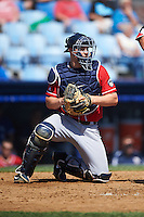 New Hampshire Fisher Cats catcher Ryan Lavarnway (31) during a game against the Reading Fightin Phils on June 6, 2016 at FirstEnergy Stadium in Reading, Pennsylvania.  Reading defeated New Hampshire 2-1.  (Mike Janes/Four Seam Images)
