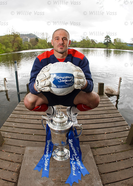 Falkirk's goalkeeper Dani Mallo looking ahead to Sunday's Homecoming Scottish Cup semi final