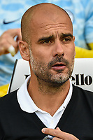 Pep Guardiola manager of Manchester City  during the EPL - Premier League match between Brighton and Hove Albion and Manchester City at the American Express Community Stadium, Brighton and Hove, England on 12 August 2017. Photo by Edward Thomas / PRiME Media Images.