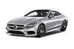 2017 Mercedes Benz S-Class - 2 Door Coupe Angular Front stock photos of front three quarter view