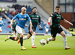 Nicky Law tries to run past the Raith defence