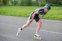 INLINE-SKATEN: STEENWIJK: Gagelsweg (start/finish), Schansweg, Meppelerweg, KPN Inline Cup, Klim van Steenwijk, 02-05-2012, Elma de Vries (#81), ©foto Martin de Jong