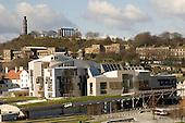 New Scottish Parliament building at Holyrood, Edinburgh.  Designed by Spanish architect, Enric Miralles.