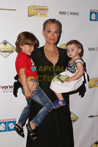 LOS ANGELES, CA - APR 17: Molly Sims, Brooks Stuber, Scarlett Stuber<br />  attends Milk + Bookies 7th Annual Story Time Celebration, Apr 17 2016 - California Market Center - Los Angeles, California United States. <br /> CAP/MPIPA<br /> &copy;MPIPA/Capital Pictures