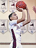 Angel Rivera #5 of Bay Shore drains a shot during the Suffolk County varsity boys basketball Class AA quarterfinals against Central Islip at Bay Shore High School on Tuesday, Feb. 21, 2017. Bay Shore won by a score of 61-34.