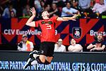 14.09.2019, Paleis 12, BrŸssel / Bruessel<br />Volleyball, Europameisterschaft, Deutschland (GER) vs. Belgien (BEL)<br /><br />Aufschlag / Service Ruben Schott (#3 GER)<br /><br />  Foto © nordphoto / Kurth