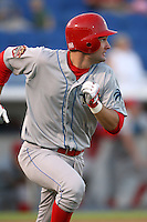 April 10th 2009: Designated Hitter Tim Kennelly of the Clearwater Threshers, Florida State League Class-A affiliate of the Philadelphia Phillies, during a game at Dunedin Stadium in Dunedin, FL.  Photo by:  Mike Janes/Four Seam Images