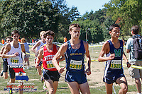 The lead pack at 1.8 miles includes Noah Kauppila, Patrick Perrier, Patrick Gregory, Cole Rockhold, Spencer Haik, and Evan Schulte.