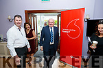 Bertie Ahern is greeted at Kilcooly's Country House Hotel by John & Joan O'Connor for the Women In Media, event Ballybunion on Sunday.