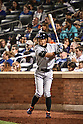 Ichiro Suzuki (Marlins),<br /> SEPTEMBER 14, 2015 - MLB :<br /> Ichiro Suzuki of the Miami Marlins at bat in the fifth inning during the Major League Baseball game against the New York Mets at Citi Field in Flushing, New York, United States. (Photo by Hiroaki Yamaguchi/AFLO)
