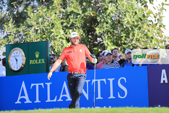 Andy Sullivan (ENG) on the 14th during round 2 of the DP World Tour Championship, Jumeirah Golf Estates, Dubai, United Arab Emirates. 18/11/2016<br /> Picture: Golffile | Fran Caffrey<br /> <br /> <br /> All photo usage must carry mandatory copyright credit (&copy; Golffile | Fran Caffrey)