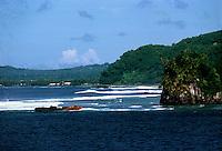 Ship wreck on the beach, Pago Pago, American Samoa 1980