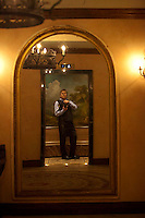 Self portrait at the Grand Duca Hotel in Houston while photographing a corporate event in 2012.