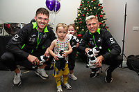Pictured: Freddie Woodman and Sam Surridge during the Swansea City Christmas part at the Liberty Stadium in Swansea, Wales, UK. Thursday 05 December 2019