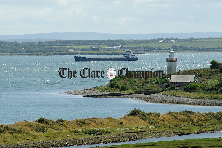 A general view of a lighthouse  on Scattery Island. Photograph by John Kelly.
