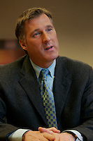 Montreal (Qc) CANADA - file photo- Dec 8, 2006- <br /> Maxime Bernier.<br /> <br /> The Honourable Maxime Bernier<br /> Minister of Foreign Affairs<br /> <br /> Beauce (Quebec)<br /> <br /> Maxime Bernier, first elected to the House of Commons in 2006, was appointed Minister of Industry on February 6, 2006.<br /> <br /> Before his election, Mr. Bernier was Vice-President of Corporate Affairs and Communications for Standard Life of Canada insurance company, and Director of Business and International Relations at the Commission des valeurs mobili&egrave;res du Qu&eacute;bec. He has worked for financial and banking institutions and has provided advice on their behalf on various legislative issues.<br /> <br /> Mr. Bernier is a lawyer with a bachelor&rsquo;s degree in commerce. He was a member of the board of the Montreal Economic Institute and is a member of several charitable organizations. He was born and raised in Beauce, Quebec.<br /> Photo (c)  Images Distribution