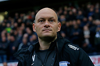 9th November 2019; Deepdale Stadium, Preston, Lancashire, England; Championship Football, Preston North End versus Huddersfield Town; Preston North End manager Alex Neil before the game - Strictly Editorial Use Only. No use with unauthorized audio, video, data, fixture lists, club/league logos or 'live' services. Online in-match use limited to 120 images, no video emulation. No use in betting, games or single club/league/player publications