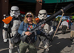 "Meredith poses with Storm Troopers during the Reno Aces ""Star Wars Night"" in Reno on Saturday, June 8, 2019."