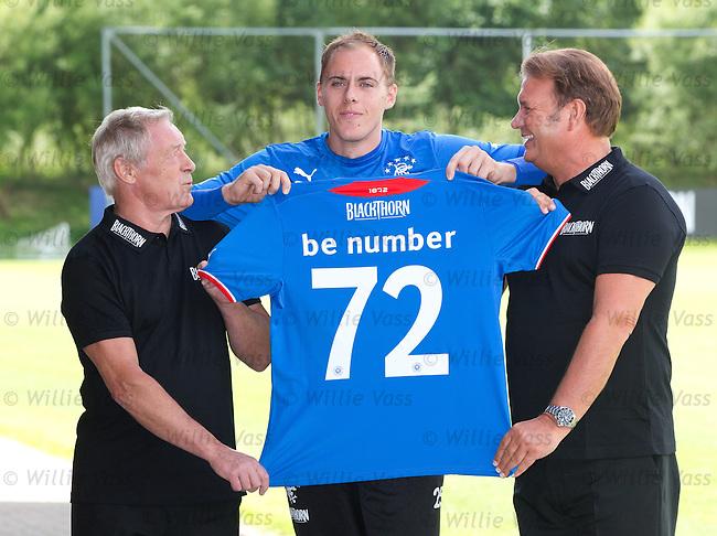 Willie Johnston and Derek Johnstone in BAr 72 promo with keeper Scott Gallacher