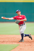 Second baseman Phillip Evans #28 during the USA Baseball 18U National Team Trials at the USA Baseball National Training Center on June 30, 2010, in Cary, North Carolina.  Photo by Brian Westerholt / Four Seam Images