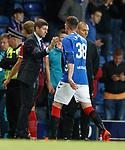 23.08.2018 Rangers v Ufa: Steven Gerrard and Kyle Lafferty
