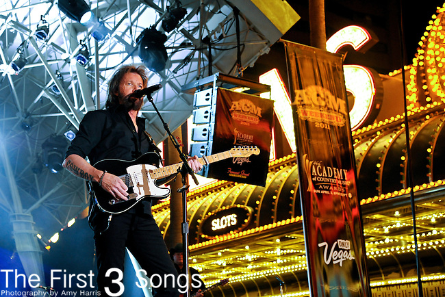 Ronnie Dunn performs during the ACM Concerts at Fremont Street Experience Event in Las Vegas, Nevada on April 2, 2011.