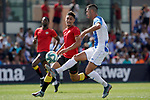 CD Leganes' Sabin Merino (r) and Rayo Vallecano's Emiliano Velazquez during friendly match. July 13,2018. (ALTERPHOTOS/Acero)