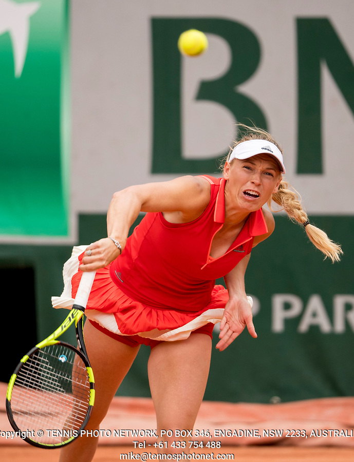 CAROLINE WOZNIACKI (DEN)<br /> <br /> TENNIS - FRENCH OPEN - ROLAND GARROS - ATP - WTA - ITF - GRAND SLAM - CHAMPIONSHIPS - PARIS - FRANCE - 2017  <br /> <br /> <br /> <br /> &copy; TENNIS PHOTO NETWORK