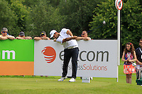 Alexander Levy (FRA) on the 10th tee during Round 2 of the Irish Open at Fota Island on Friday 20th June 2014.<br /> Picture:  Thos Caffrey / www.golffile.ie