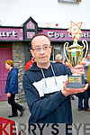 winner Joe Donovan with the Trophy at the Rock Bars Road Race on Monday