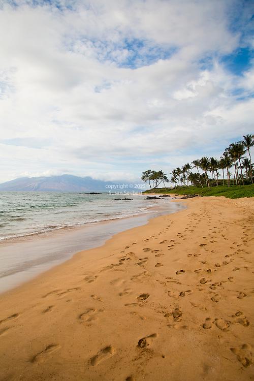 Mokapu beach that fronts the Andaz hotel in Wailea, Maui, Hawaii