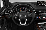 Car pictures of steering wheel view of a 2017 Audi Q7 Premium  5 Door SUV