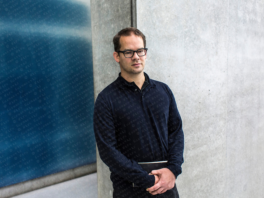 Florian Pumhosl poses in his exhibition Spatial Sequence at the Kunsthaus Bregenz, 24.10.2012.