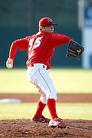 July 27, 2009:  Pitcher Justin Edwards of the Batavia Muckdogs during a game at Dwyer Stadium in Batavia, NY.  The Muckdogs are the NY-Penn League Short-Season Class-A affiliate of the St. Louis Cardinals.  Photo By Mike Janes/Four Seam Images