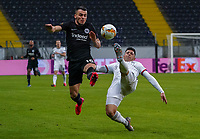 Filip Kostic (Eintracht Frankfurt) gegen Blas Riveros (FC Basel) - 12.03.2020: Eintracht Frankfurt vs. FC Basel, UEFA Europa League, Achtelfinale, Commerzbank Arena<br /> DISCLAIMER: DFL regulations prohibit any use of photographs as image sequences and/or quasi-video.