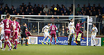 02.05.2018 Arbroath v Dumbarton: Bobby Linn heads in to equalise for Arbroath