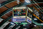 29 December 2018: The University of Vermont scoreboard shows one-half second remaining in the second period, with a poor-play going into the third, as the Catamounts tie the Rensselaer Engineers at Gutterson Fieldhouse in Burlington, Vermont. The Catamounts rallied from a 2-0 deficit to defeat RPI 4-2 and win the annual Catamount Cup Tournament. Mandatory Credit: Ed Wolfstein Photo *** RAW (NEF) Image File Available ***