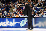 Laboral Kutxa's Coach Velimir Perasovic during Liga Endesa ACB at Barclays Center in Madrid, October 11, 2015.<br /> (ALTERPHOTOS/BorjaB.Hojas)