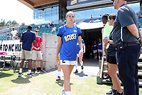 Cary, North Carolina  - Saturday June 03, 2017: Shea Groom prior to a regular season National Women's Soccer League (NWSL) match between the North Carolina Courage and the FC Kansas City at Sahlen's Stadium at WakeMed Soccer Park. The Courage won the game 2-0.
