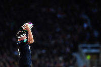 Jamie George of England looks to throw into a lineout. Old Mutual Wealth Series International match between England and Fiji on November 19, 2016 at Twickenham Stadium in London, England. Photo by: Patrick Khachfe / Onside Images