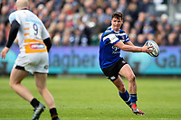 Freddie Burns of Bath Rugby in possession. Gallagher Premiership match, between Bath Rugby and Wasps on May 5, 2019 at the Recreation Ground in Bath, England. Photo by: Patrick Khachfe / Onside Images