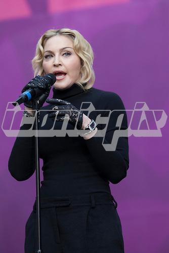 Madonna - hosts the Sound of Change concert at Twickenham Stadium, Surrey UK - 01 Jun 2013.  Photo credit: John Rahim/Music Pics Ltd/IconicPix